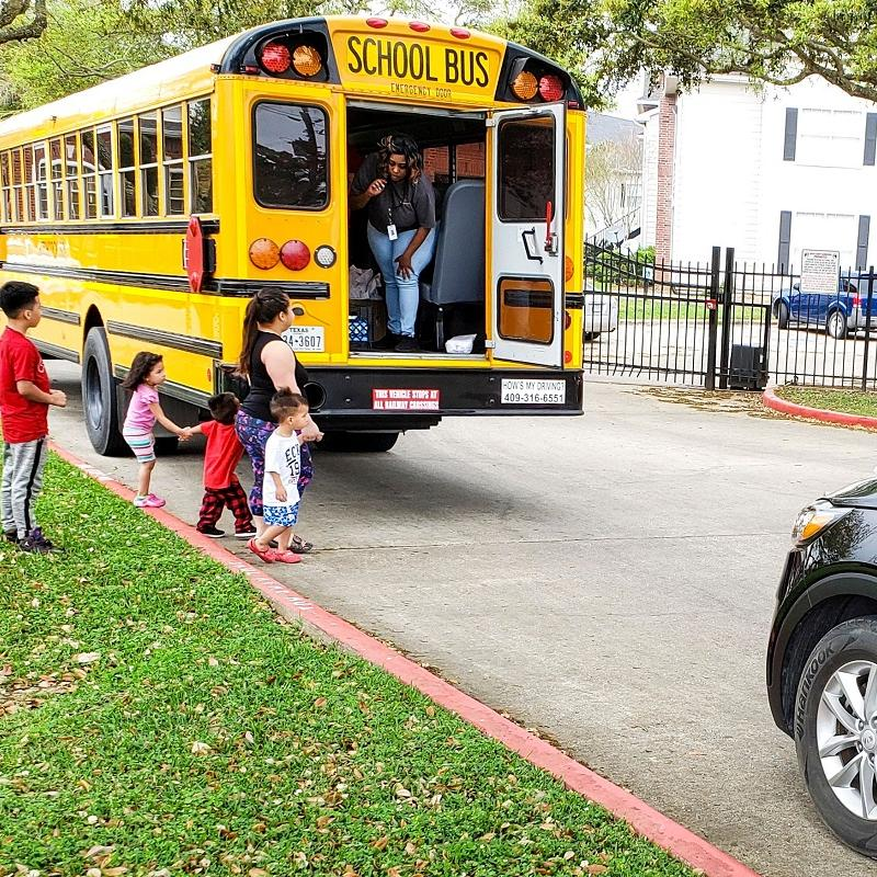 meals picked up on school bus route